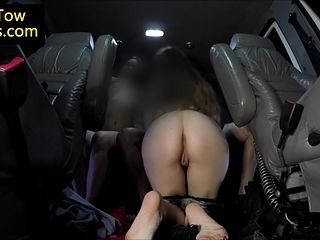 image Stranded girls railing tow truck driver cock