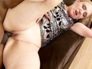 Saggy Granny Toys Ass And Anal Fucked By Big Black Dick