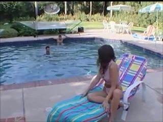 Kelli Tyler Screwed Poolside By two Boyfrends (2)