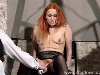 Dirty Mary lesbian pussy whipping and amateur bdsm of play piercing redhead ### girl in erotic domination by female do
