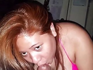 Chubby Asian Wife In Lingerie Sucks Well