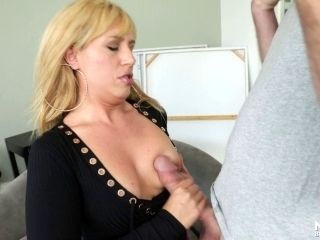 Matured Blonde With Long Hair Giving Her Guy Superb Blowjob