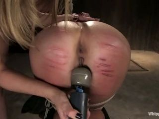 Horny Blonde In The Stocks Gets Punished By Her Mistress
