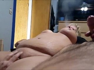 Hot Fat Babe With Huge Tits Giving A Nasty Handjob On Cam