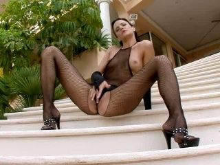 Frenzied Brunette Siren In A Fishnet Stuns So Loud