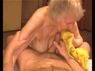 Cary From 1Fuckdate.com - Cumshot On Granny Saggy Tits With