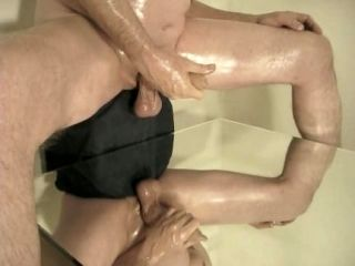 Robin Jerking His Shaved Oiled Uncut Monstercock 168 (2)