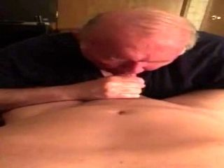 Old Man Sucks Young Cock
