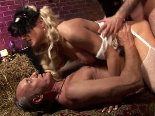 Mature Hunks Get To Have A Good Time With A Big Breasted Blonde