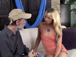 Mature fellow gets to play with Megan Sweet's amazing body
