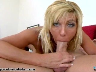 Big Tits Blonde MISTY VONAGE Huge Cock POV Blowjob and Facial! Nice! A++
