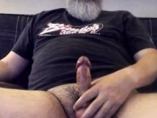 Hairy Daddy Bear Edging and Cumming