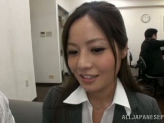 Gangbang Time in the Office for Japanese Lady Minami Asano
