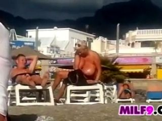 Spying On A Fat Mother At A Beach (2)