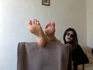 Foot fetish with Monica's best soles