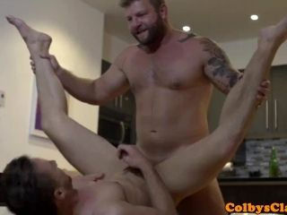 Straight Muscle Jock Pounding Roommates Ass (6)