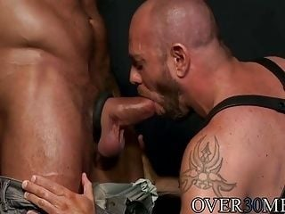 Hugh dominates Matts mouth and ass in more ways than one