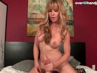 Housewife Gives A Handjob To His Man