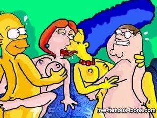 Griffins and Simpsons hentai gangbang (4)