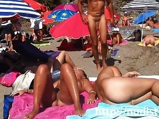 Sexy Nudist Ladies In Nature's Garb On The Beach (3)