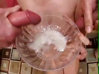 She Drinks Lots Of Cum