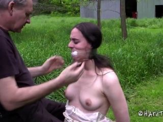 Outdoors Torture For The Chick Who Has Been Acting Quite Naughty