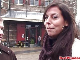 Amsterdam Whore Jizzed In Mouth (2)