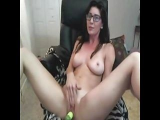 Sexy MILF with glasses solo - Add her on Snapcht: MaryMeys