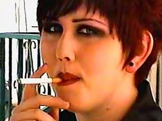 Goth Girls Smoke And Talk At Home