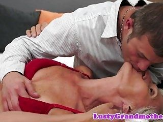 Alluring Granny Pounded In Missionary Pose  (2)