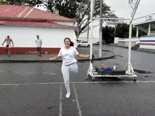Beautiful Plump LAK Jump Rope, Slow Mo, Boobs and Stump Flopping