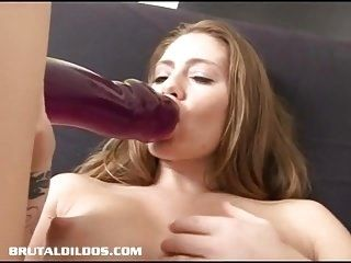 Sexy Jenna pleases her pierced pussy with a fat dildo (3)