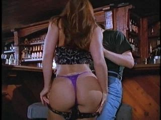 Redhead Cougar With Long Hair Giving Dick Blowjob In Public