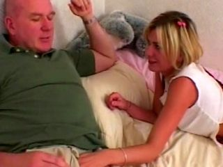 Claudio fucks young blonde Nadia Foster in anal