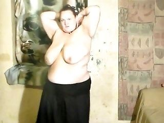 Wife Dancing Stripping And Playing With Dildo