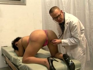 Nasty Asian stud in glasses investigates smelly anus of busty brunette tranny (2)