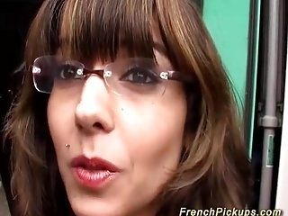 french Milf picked up for hert first anal