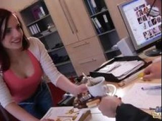 Old Young Porn My Sister Fucked Her Boss in the office and swallowed cum (3)