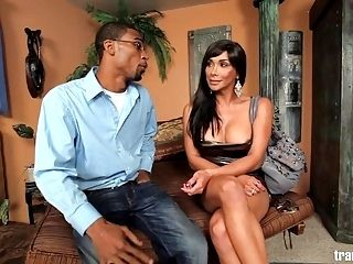 TOP Shemale Porn star takes BBC