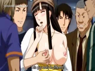 Big Titted Hentai Sex Slave Gets Nipples Pinched In Public
