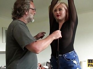 BDSM euro spanked and slapped during roughsex (4)