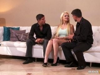 Charming Cougar In High Heels Getting Her Both Sex Holes Drilled