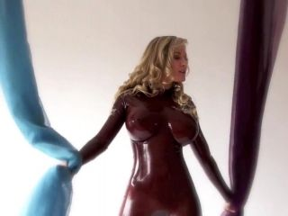 Latexs Model With Fake Tits Posing (2)