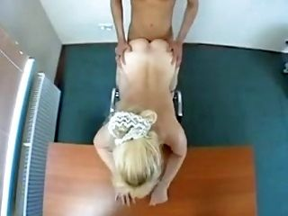 Blonde Euro cougar gets fucking and facial