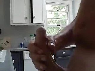 Mature Dad Flashes Big Cock