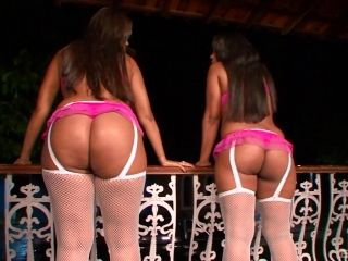 Adriana And Her Ebony Girlfriend Seduce A Couple Of Randy Fellows