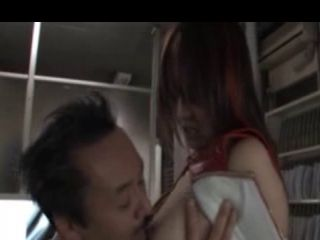 Yui Tatsumi, Teen Asian Girl On The Desk Gets Her Pussy Licked