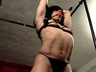 Bondage Loving Slut Relishes When Her Guy Belts Her Taut
