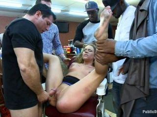 Blonde Slut Tied Up And Fucked In A Public Place