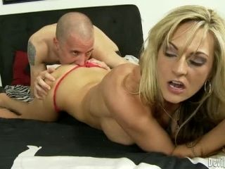 Busty blonde Sindy Lange gets her pussy licked and fucked